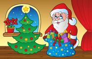 Stock Illustration of Santa Claus indoor scene 3