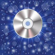 Stock Illustration of cd on a blue background