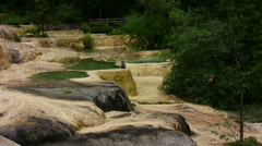 View on Huanglong pools Stock Footage