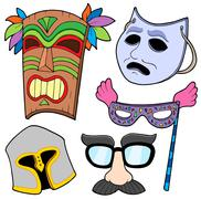 Various masks collection  Stock Illustration