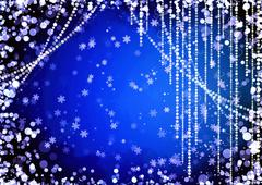 Abstract curtains of holiday garland Stock Illustration