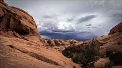 4K Desert Sandstone Cloud Time Lapse Stock Footage