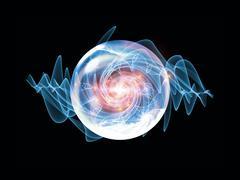 Shining Wave Particle Stock Illustration