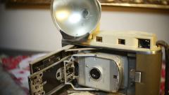 Old polaroid camera photography photograph 2 Stock Footage