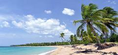 Breathtaking tropical beach panorama with a lot of copy-space, ideal for summer  - stock photo