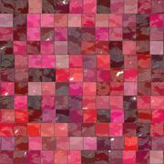 Stock Illustration of Red ceramic tile mosaic - seamless texture perfect for 3D modeling and rendering