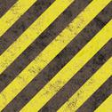 Stock Illustration of Old grungy yellow hazard stripes on a black asphalt - seamless texture perfect f