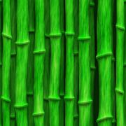 Lush green bamboo stalks - seamless texture perfect for 3D modeling and redering Stock Illustration