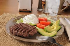 Low carb diet meal Stock Photos