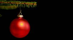 Light bulb reflection on a christmas ball Stock Footage