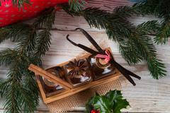 Christmas flavours for delicious pastries Stock Photos
