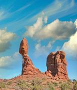 Balanced Rock, one of Arches National park most viewed and photo Stock Photos