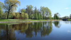 Spring  views scenic river - stock footage