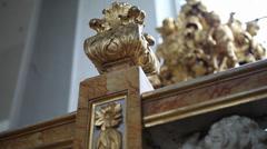 Slidershot Church monument Stock Footage