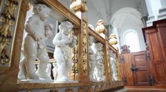 Slidershot Interior Church Copenhagen 2 Stock Footage