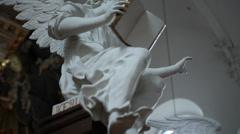 Slder interiorshot of Church Copenhagen Stock Footage