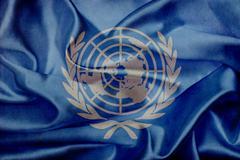 United nations grunge waving flag Stock Illustration