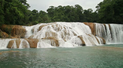 Agua azul waterfall Stock Footage