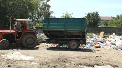 Garbage kids at landfill ,pollution Stock Footage