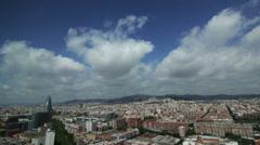 Timelapse Barcelona 28floor Day Stock Footage