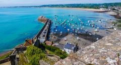Harbour on Jersey Island Stock Photos