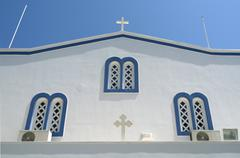 Church in  Kamari. Stock Photos