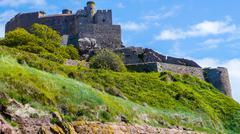 Mount Orgueil Castle Jersey Island Stock Photos