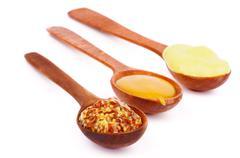 Various Mustard - stock photo