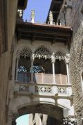 Detail of arch. Barcelona. Spain - stock photo