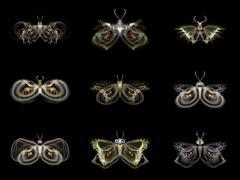 Visualization of Fractal Butterflies - stock illustration