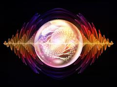 Evolving Wave Particle Stock Illustration