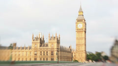 Timelapse of a traffic in front of Big Ben Stock Footage