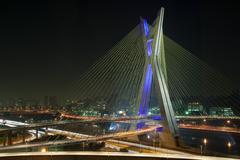 Beautiful bridge in Sao Paulo - stock photo