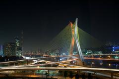 Beautiful bridge in Sao Paulo Stock Photos