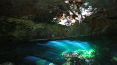 Cenote Azul,Mexico - stock footage