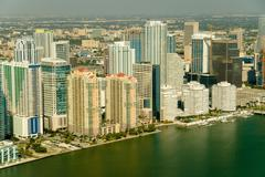 Buildings at the waterfront, Miami, Florida, USA - stock photo