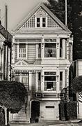 Victorian home at Alamo Square Stock Photos