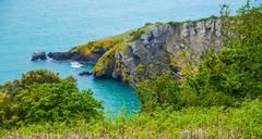 Coast Jersey Island - stock photo