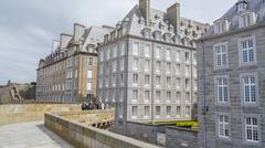 Historically City St Malo - stock photo