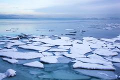 Ice floe in winter Norway Stock Photos