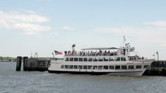 Passengers Boarding Hornblower Cruises Boat 1 Stock Footage