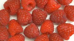 4K Raspberry Fruit - stock footage