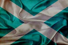 scotland grunge waving flag - stock illustration