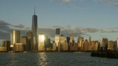 Freedom Tower and Skyline Day-to-Night Timelapse 1 Stock Footage