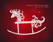 Chinese Zodiac New Year of the Horse Stock Illustration