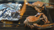 Stock Video Footage of Grilled crab