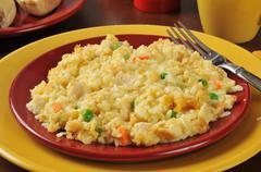Chicken rice vegetable casserole - stock photo