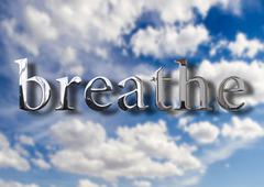 Breathe air concept Stock Illustration