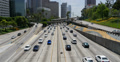 4K Freeway Traffic 04 Los Angeles Downtown Footage