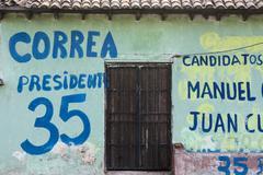 Canvassing in ecuador Stock Photos